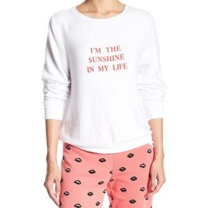 Wildfox I'm the Sunshine in My Life Baggy Jumper S